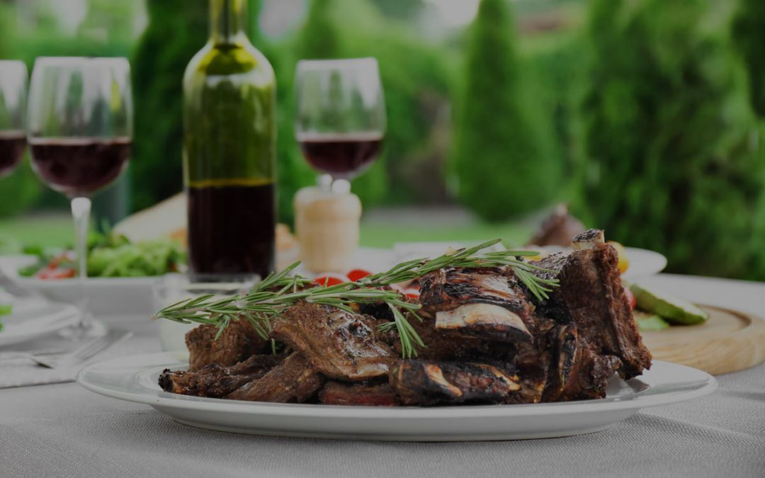 Sticky Beef Short Ribs with Perelada 3 Fincas