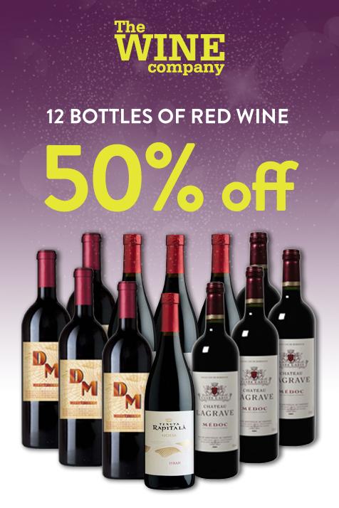 Half price red wine case