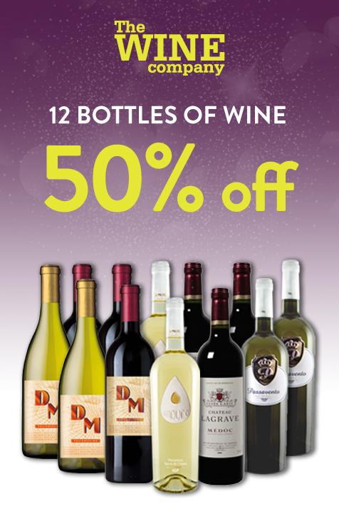 Half price mixed wine case